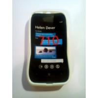 Силиконов калъф за Nokia Lumia 710 бял