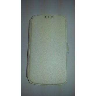 Страничен калъф за Samsung Galaxy S4 бял