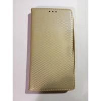 Страничен калъф тефтер LG K10 златен