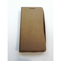 Страничен калъф тефтер LG K10 златен 1