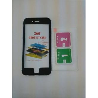 Твърд гръб+стъкло Iphone 6/6S черен