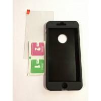 Твърд гръб + стъкло iPhone 7 Plus черен