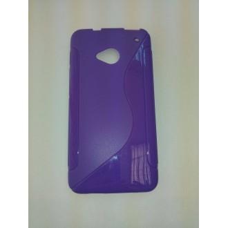 Силиконов калъф HTC One M7 лилав