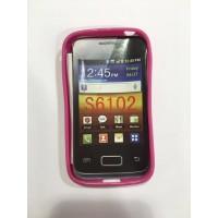 Силиконов калъф за  Samsung Galaxy S6102 Y Dous розов