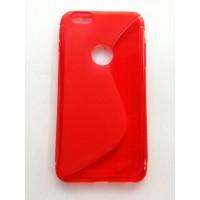 Силиконов калъф iPhone 6 Plus червен 1