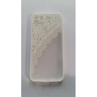 Силикон 3D iPhone 5/5s бял