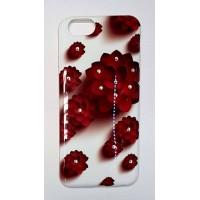 Силикон за Iphone 6/6S с камъни и цветя