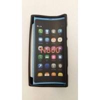 Силиконов калъф за Lumia 800 черен