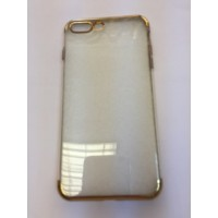 Силикон за Iphone 7 plus с лайсна златна