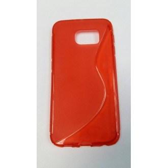 Силиконов калъф за Samsung Galaxy S6 червен