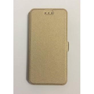 Калъф Flip за Lenovo K5/K5 Plus златен