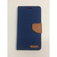 Страничен калъф тип тефтер за Lenovo K6 Note син