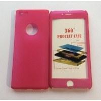 Твърд гръб+стъкло за Iphone 6/6s розов