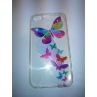 Силиконов калъф  за iPhone 4/4s с пеперуди
