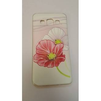 Силиконов калъф за Samsung Galaxy A3 цвете