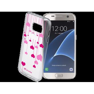 Cellular line Style калъф за Samsung Galaxy S7 сърца