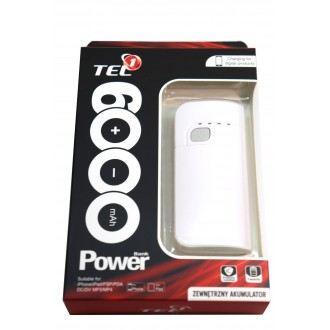 Преносима батерия Power Bank 6000 mAh Tel1