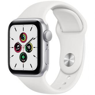 Apple Watch SE 40 mm Aluminium Silver with Sport Strap White
