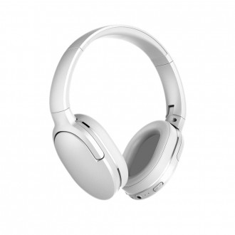 Baseus Encok D02 Wireless Bluetooth 5.0 Headphones 450 mAh white