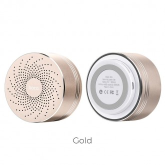 Безжична колонка Hoco Swirl BS5 Portable Wireless Bluetooth Speaker, златна
