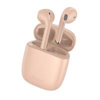 Безжични слушалки Baseus W04 Pro , със зареждаща кутия, розови
