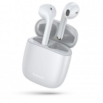 Безжични слушалки Baseus W04 TWS , със зареждаща кутия ,бели