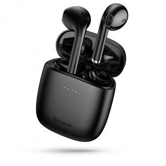 Безжични слушалки Baseus W04 TWS , със зареждаща кутия ,черни