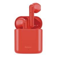 Безжични слушалки Baseus W09 , със зареждаща кутия, червени