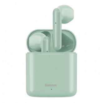 Безжични слушалки Baseus W09 , със зареждаща кутия, зелени