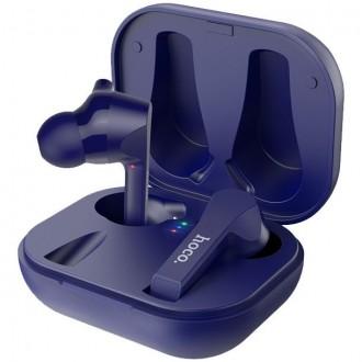 Безжични слушалки HOCO ES34 Pleasure TWS , със зареждаща кутия ,сини