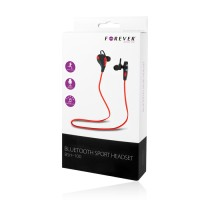 Безжични слушалки с блутут Forever BSH-100 червено/черно