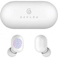 Безжични слушалки Xiaomi Haylou GT1 BT, бели със зареждаща кутия