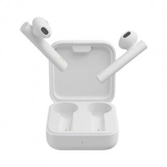 Безжични слушалки Xiaomi MI AIRDOTS 2 SE WIRELESS със зареждаща кутия ,бели