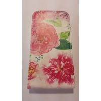 Калъф тип тефтер за Sony Xperia E4 цветя