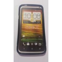 Силиконов калъф за HTC One Х  черен