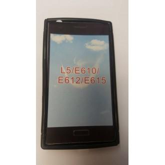 Силиконов калъф за LG L5  черен