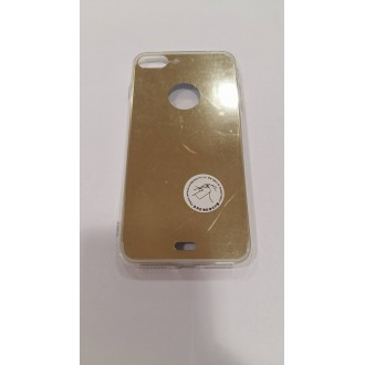 Силиконов калъф с огледален гръб за iPhone 7 Plus златен