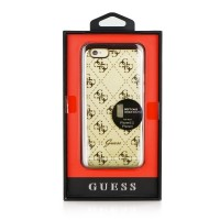 Оригинален кейс за iPhone 7/8 Guess заден твърд гръб GUHCP7IGLGO  Gold