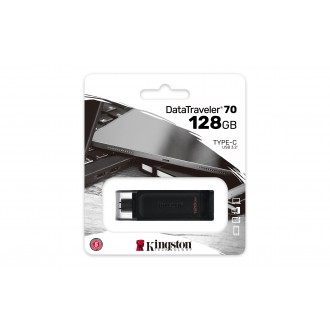 Flash памет Pendrive Kingston  DT70 128GB  USB-C, black