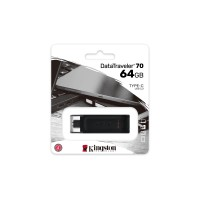 Flash памет Pendrive Kingston  DT70 64GB  USB-C, black