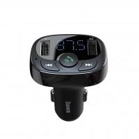 FM Трансмитер и зарядно за кола Bluetooth  Baseus S-09A, черен