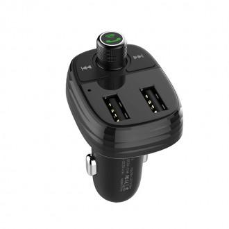 FM Трансмитер и зарядно за кола Bluetooth BOROFONE BC16 Minirock, черен