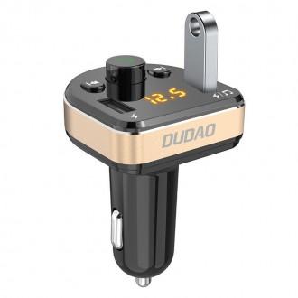 FM Трансмитер и зарядно за кола Bluetooth MP3 DUDAO R2 pro ,черен