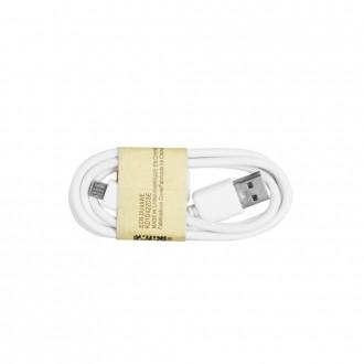 Кабел Micro USB 1м бял