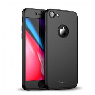 """Калъф 360"""" със стъклен протектор за iPhone 7 Ipaky черен"""