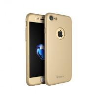 """Калъф 360"""" със стъклен протектор за iPhone 7 Ipaky Gold"""