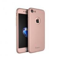 """Калъф 360"""" със стъклен протектор за iPhone 7 Ipaky Pink"""
