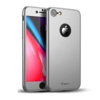 """Калъф 360"""" със стъклен протектор за iPhone 8 Ipaky silver"""