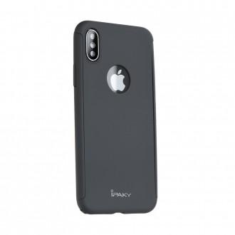 """Калъф 360"""" със стъклен протектор за iPhone XR Ipaky черен"""