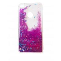Kалъф кейс за iPhone 7/iPhone 8 с течен гел брокат лилав